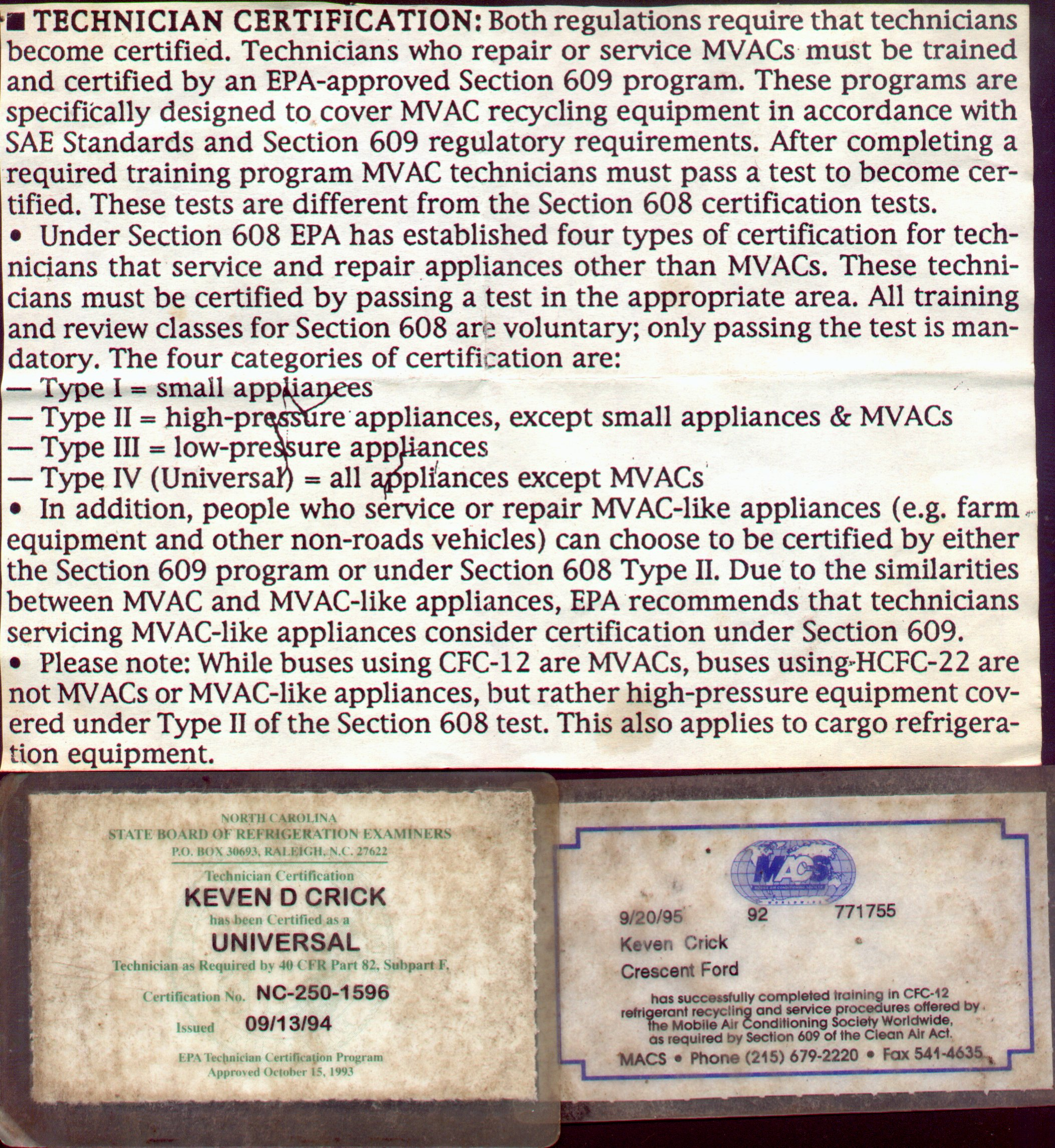 Keven crick education certifications september 13 1994 type 123 4 accept mobile vehicle ac 1betcityfo Gallery
